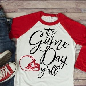 It's Game Day Y'all Raglan Tee